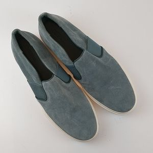 Vince Men's Blue Suede Loafers Size 12M NWOT